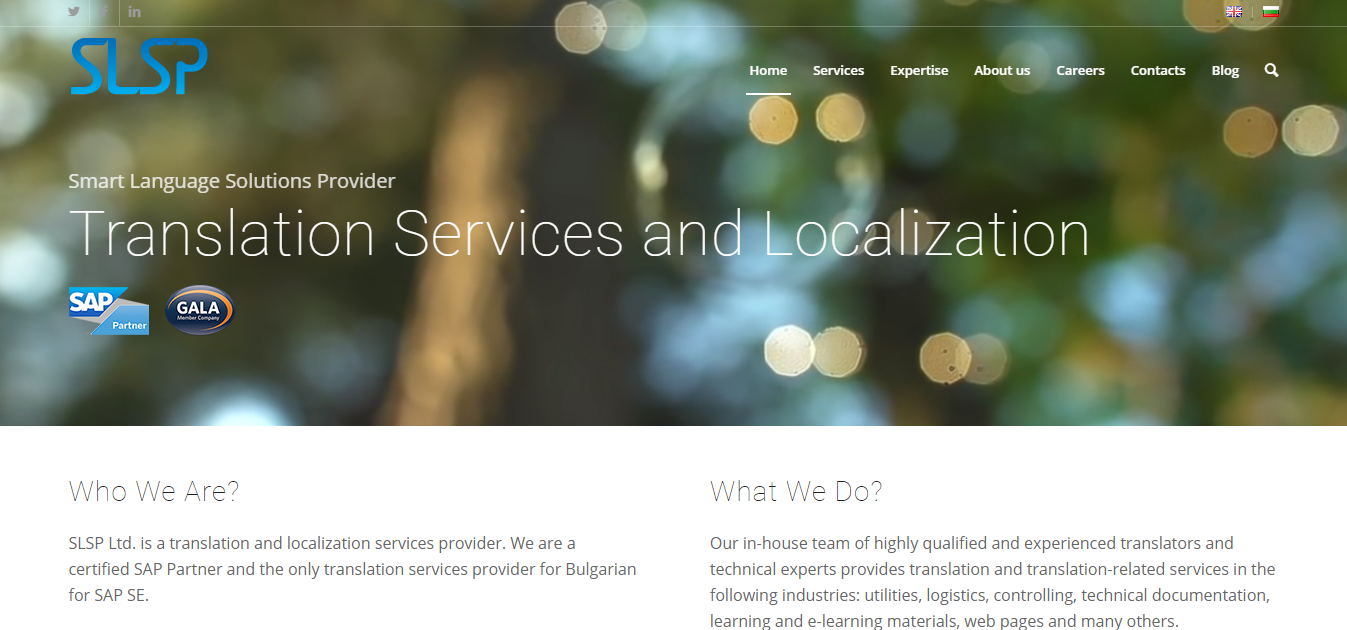 Изработка на уеб сайт за SLSP